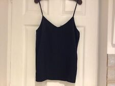 Selected Femme Black Satin Strappy Top  Sz 38 Bnwt