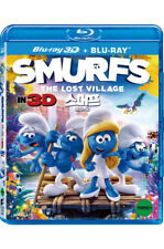 Smurfs: The Lost Village (2018, Blu-ray) 2D & 3D Combo