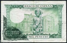 Error 1000 pesetas 1965 BILLETE ANVERSO CALCADO
