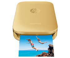 *BRAND NEW* HP - Sprocket 100 Photo Printer Smartphone Printer w/10 sheets -Gold