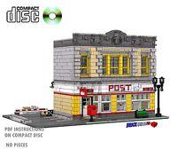CD Modular Post Office Lego Custom Instructions cafe city 10182, corner, Mail #7