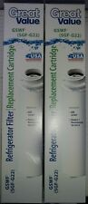 2X Great Value SGF-G22 Refrigerator Filter Replacement Cartridge GE Kenmore GSWF