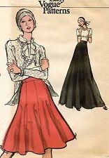 1970's VTG VOGUE Misses' Skirt Pattern 8517  Waist 26.5 UNCUT