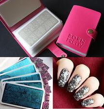 5stk Born Pretty Nagel Stamping Schablone mit Hülle Case Tasche  BP L026-L030