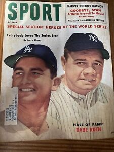 1960 Sport Magazine Babe Ruth Cover October