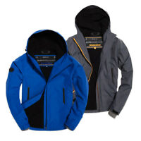 Superdry Jacket - Superdry Hooded Elite Windcheater Jacket - Blue, Grey - BNWT