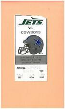 Dallas Cowboys at New York Jets 11-4-1990 ticket Emmitt Smith ROOKIE NFL season