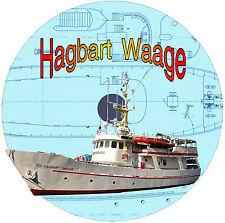 Model Boat RADIO CONTROL MODEL BOAT Hagbart Waage RESCUE LAUNCH   F/S PLAN on Cd