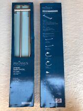 """Pegasus Innburg Bathroom Double Towel Bar Rod Rack Brushed Nickel 24"""" Length"""
