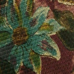 Purple Green Turquoise Floral Silk CERRUTI Tie