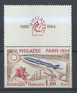 FRANCE 1422 PHILATEC, avec vignette, .Très bon rapport qualité/prix Cote: 30€