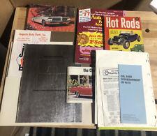 Huge Lot Of Vintage Car Magazines And Manuals - Cadillac - Pontiac- Joke Book
