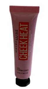 MAYBELLINE CHEEK HEAT SHEER GEL CREAM BLUSH TUBE SHADE 10 PINK SCORCH NEW