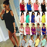 Womens Summer Casual Loose Tops Cold Shoulder T-shirt Blouse Beach Tees Shirts