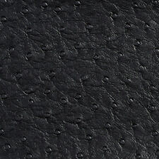 G703 Black, Ostrich Emu Weather Resistant Marine Upholstery Vinyl By The Yard