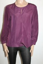 Unbranded Brand Dark Purple Long Sleeve Wrap Around Blouse Top Size M BNWT #Si10