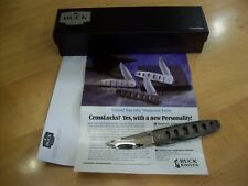 """RARE LIMITED EDITION BUCK KNIFE 180 """"DAMASCUS"""" CROSSLOCK ~ 1997 ~ 1 OF VERY FEW"""