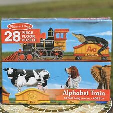 Melissa & Doug Alphabet Train Floor Puzzle  Animals  28 Pcs 10 Ft Long NEW