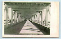 Long Beach, CA - DRIVEWAY UNDER PIER BOARDWALK - PRE 1908 M RIEDER POSTCARD