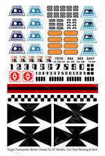"SPACE 1999 EAGLE TRANSPORTER - ACCURATE DECALS for 22"" INCH MODELS - MPC & PE"