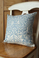 "William Morris Brer Rabbit Fabric 16"" Cushion Cover Slate Blue"