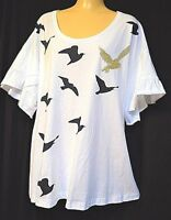 TS top TAKING SHAPE VIRTU plus sz L / 22 Fly Away Top soft light cotton tee NWT!