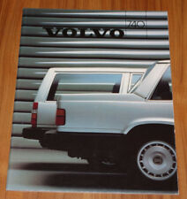 Catalogue VOLVO 740 Berline et break de 1986