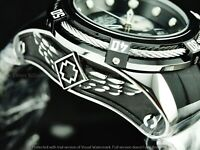 Invicta Men 52mm Bolt Zeus Swiss Z60 Chronograph Blk-White MOP Dial Strap Watch