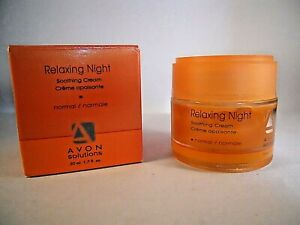 Avon Solutions Relaxing Night Soothing Cream 1.7oz NEW