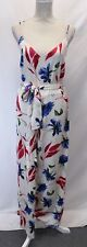 Y.A.S Women's Tall Bold Floral Wideleg Jumpsuit SV3 Pink Size XL NWT