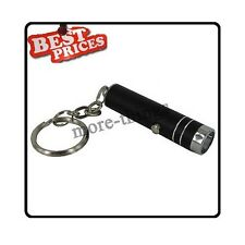Mini 1 LED Handheld brillante Linterna antorcha lámpara con llavero + Baterías