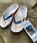 NWT.  Women's Cheeks Health Sandals Shoes By Tony Little. Size 7 Patriotic