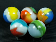 ⓿ Antique Colorful 5 Vitro Tiger-Eye Marbles