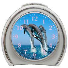 Jumping Bottlenose Dolphins Alarm Clock Night Light Travel Table Desk