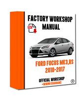OFFICIAL WORKSHOP Manual Service Repair Ford Focus MK3 & MK2 RS 2012-2013