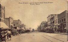 OK 1912 Main Street looking South from Third Street at Miami, Oklahoma Ottawa Co