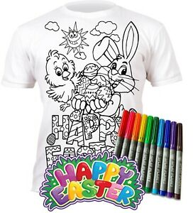 Splat Planet Colour-in Easter T-Shirt 10 Magic Pens-Colour-in and Wash Out