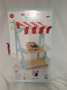Le Toy Van HONEYBAKE HONEYBEE MARKET Wooden Shop/Stall Kids Pretend Play BNib