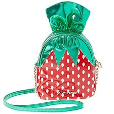 "NEW BETSEY JOHNSON Red/Green ""KITSCH STRAWBERRY"" Crossbody Handbag -SALE"