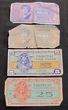 Lot of 4 Military Payment Certificates Mpc - Series 541 25 Cents, Series 521 25