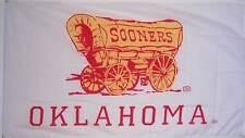 NEW 3ftx5 WHITE OKLAHOMA SOONERS NCAA FLAG BANNER