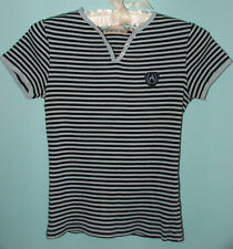 AEROPOSTALE WOMAN'S TOP SIZE SMALL BLUE STRIPED, RIBBED