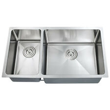 "Z203R - 30"" X 16"" Double Bowl Stainless Steel Hand Made Undermount Kitchen Sink"