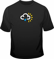 Weather Symbol Sunny Spells With Showers Mens Loose Fit Cotton T-Shirt
