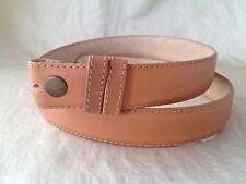 "New ROBERT LEE MORRIS Men's Tan Leather Belt Strap Prong Sz. 34 1-1/4"" Wide"
