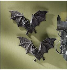 Set of 2: Count Dracula Vampire Bats Halloween Decoration Wall Sculptures Props