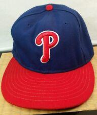 Vintage Philadelphia Phillies Men's Baseball Hat Trucker Cap Red New Era Velcro