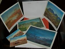 1978 Jack Absalom 'Australian Landscape Paintings' 4xPrints+Postcards in folder