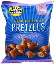 NEW GOOD HEALTH NATURAL FOODS PEANUT BUTTER FILLED PRETZELS UNSALTED SNACK DAILY
