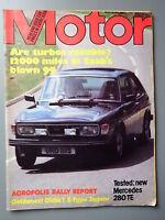 R&L Mag: Motor 1979 June 9, Saab 900 Turbo & Mercedes 280 Estate Test